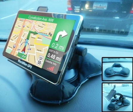 "Dash Mount - Extra Large supports all WorldNav 7"" models- Easy to Access your GPS!"