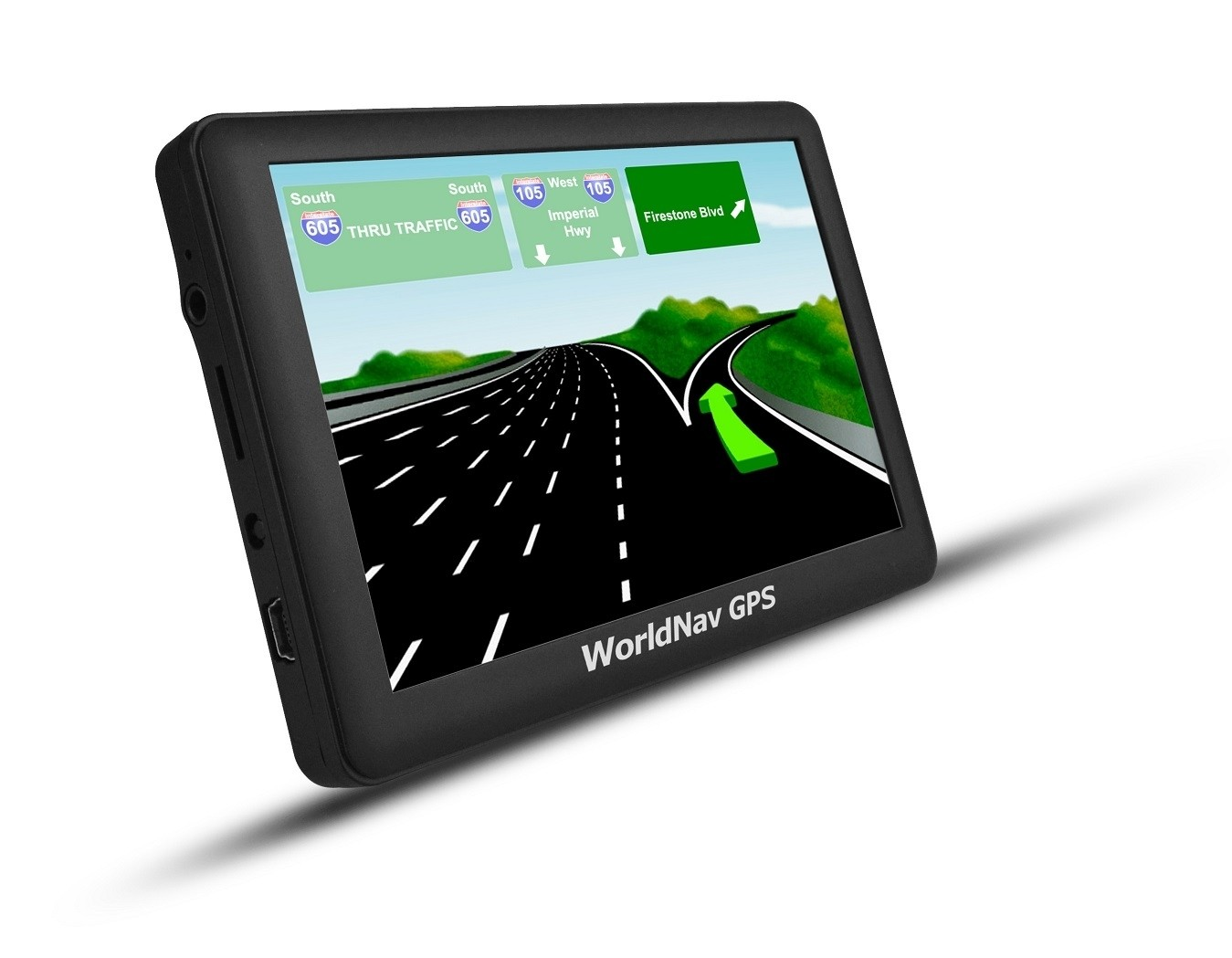 "WorldNav 5880 - High Resolution 5"" Truck GPS - Plus FREE LEATHER CASE*"