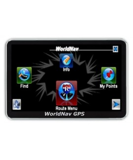"WorldNav 4100 Truck Routing 4"" GPS  Reg. $199 - NEW Maps"